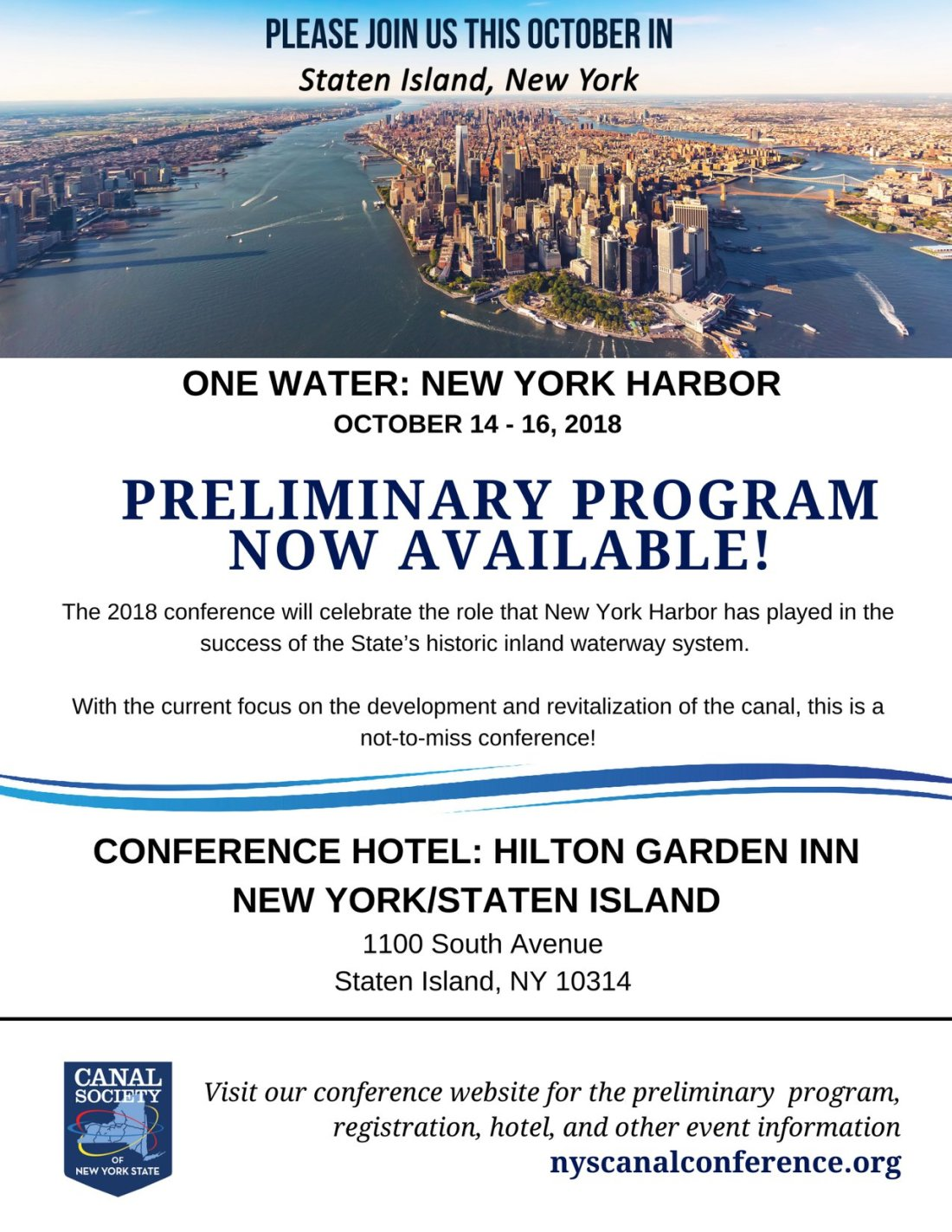 Canal Conf Program Avail