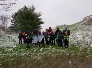 Scouts group pic in snow